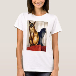 Art Deco Cats T-Shirt