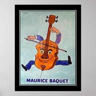 Art  Deco Cello Musician Vintage Poster