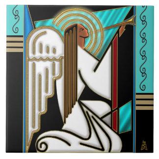 Art Deco Christmas Angel (Ceramic Tile) Ceramic Tiles