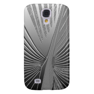 Art Deco chrome palm leaf Galaxy S4 Cases