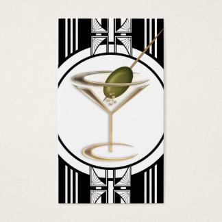 Art Deco Cocktails Social Profile Business Card