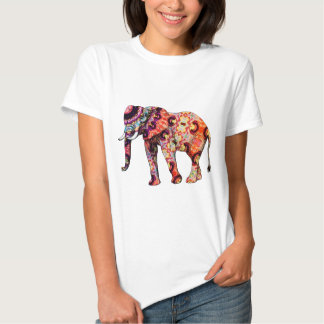 Art Deco Colorful Psychedelic Elephant T Shirt
