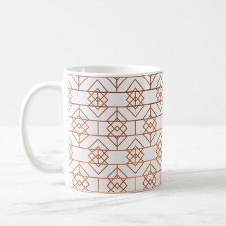 Art Deco Copper Pattern Mug