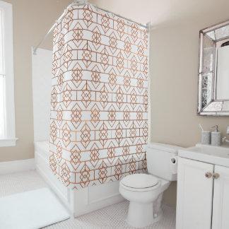 Art Deco Copper Pattern Shower Curtain
