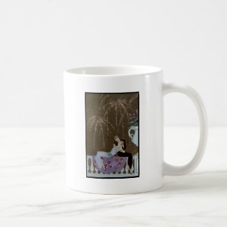 Art Deco Couple Kissing Coffee Mug