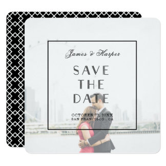 Art Deco | Custom Photo Save the Date Card