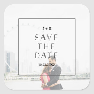 Art Deco | Custom Save the Date Wedding Sticker
