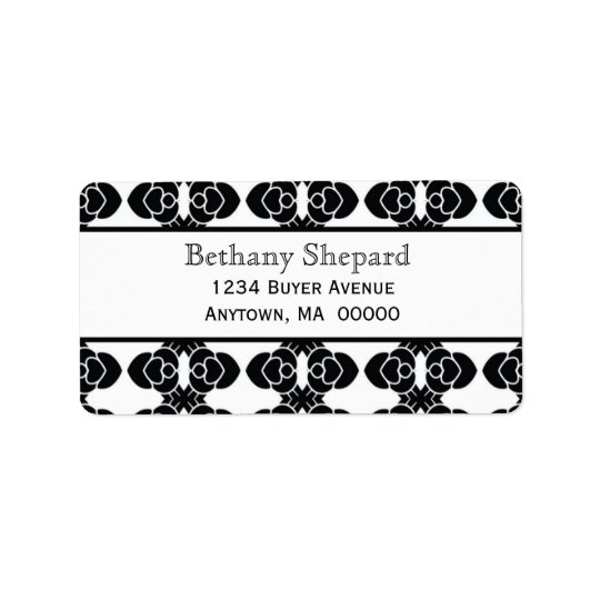Art Deco Damask Address Label