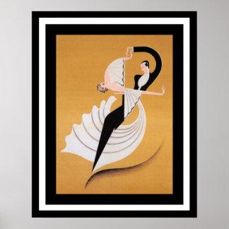 Art Deco Dancers Poster