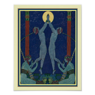 "Art Deco ""Danses de Jadis"" by George Barbier Poster"