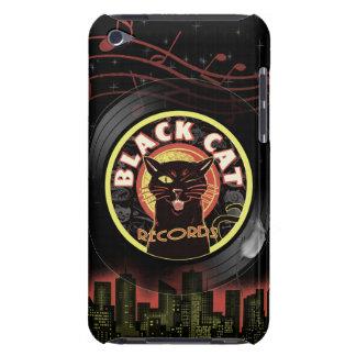 Art déco de LP de chat noir Coque iPod Case-Mate