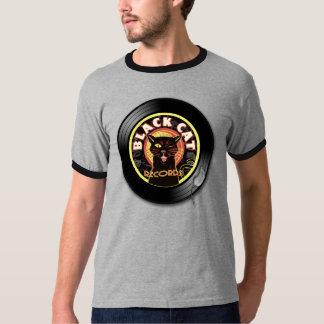 Art déco de LP de chat noir T-shirt