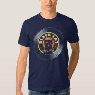 Art déco de LP de chat noir T Shirt