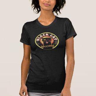 Art déco de LP de chat noir T-shirts