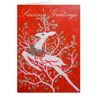 Art Deco deer Christmas Card