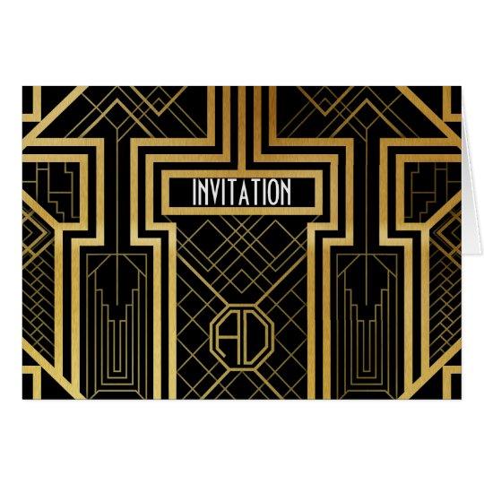Art Deco Design Note Card