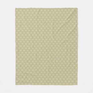 Art Deco Design - slate green, fleece blanket