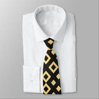 Art deco diamond pattern mens tie