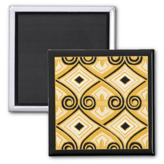 Art Deco Does Persia (Yellow and Black) Magnet