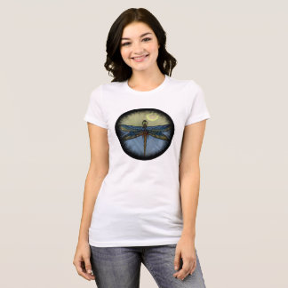 Art Deco Dragonfly Circle T-Shirt