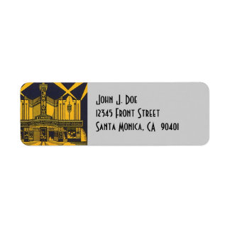 Art Deco El Miro theater Arch Return Address Label