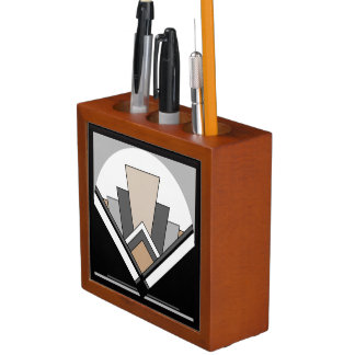 Art Deco Fan Expression Desk Organizer
