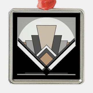 Art Deco Fan Expression Metal Ornament