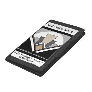 Art Deco Fan Expression Trifold Wallet