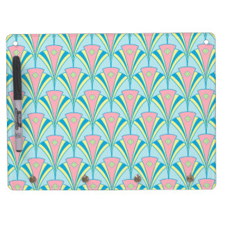 Art Deco Fan Miami Gifts Dry Erase Board With Keychain Holder