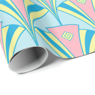 Art Deco Fan Miami Gifts Wrapping Paper