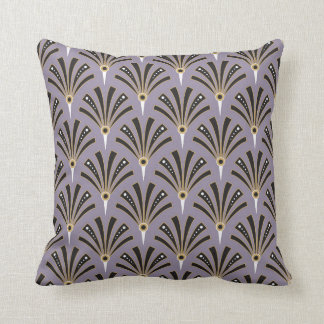 Art Deco Fan Pattern on Lavender 2 Throw Pillow