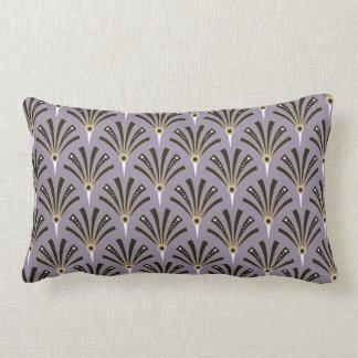 Art Deco Fan Pattern on Lavender Lumbar Pillow