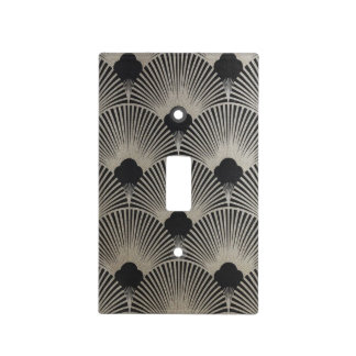 Art Deco Fan Print Light Switch Plate