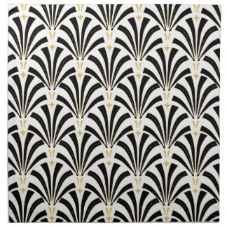 Art Deco Fans Custom Pattern Napkin