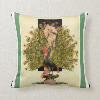 Art Deco Fapper With Peacock Pillow