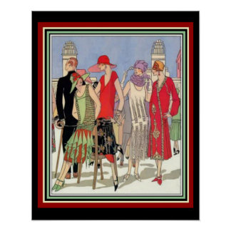 Art Deco Fashion Design Poster 16 x 20