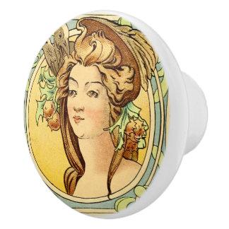 Art Deco Female Ceramic knob 4