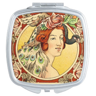 Art Deco Female Compact Mirror 2