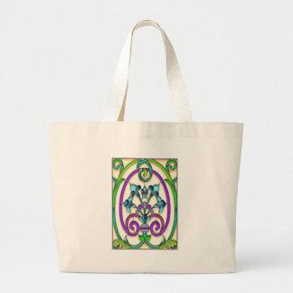 Art Deco Fleur de Lys Large Tote Bag