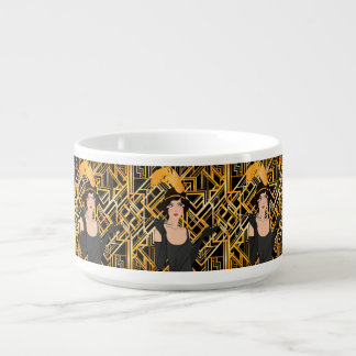 art deco, flipper girl, vintage,great Gatsby,chic, Bowl
