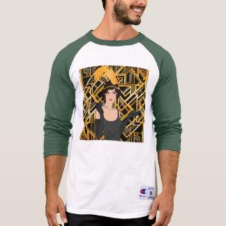 art deco, flipper girl, vintage,great Gatsby,chic, T-Shirt