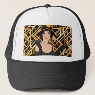 art deco, flipper girl, vintage,great Gatsby,chic Trucker Hat