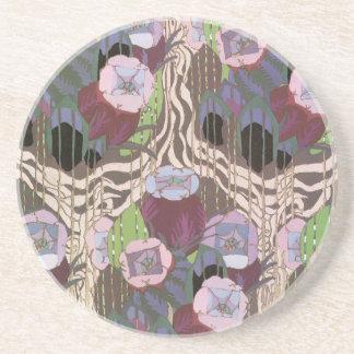 Art Deco Floral Coaster