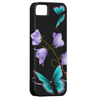 Art Deco Flowers and Butterfly Case For The iPhone 5