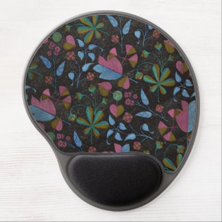 Art Deco Flowers & Leaves Gel Mousepad