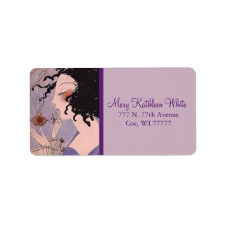 Art Deco French Parfum Ad Address Labels