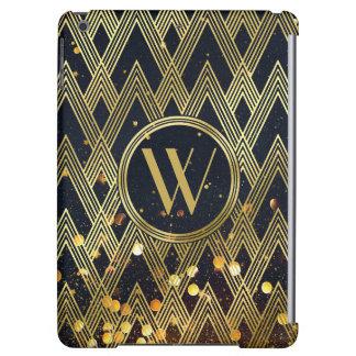 Art Deco Gatsby Glamour Geometric Pattern Monogram iPad Air Cases