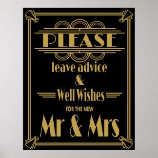 "Art Deco Gatsby ""please leave advice""  print"