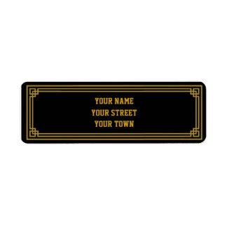 Art Deco Gatsby Style Return Address Labels