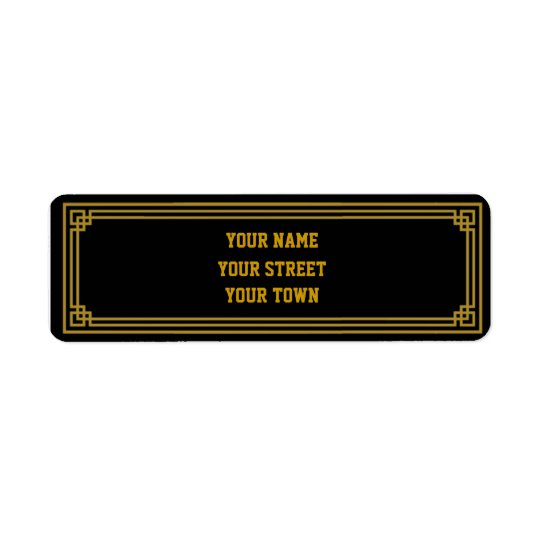 Art Deco Gatsby Style Return Address Labels